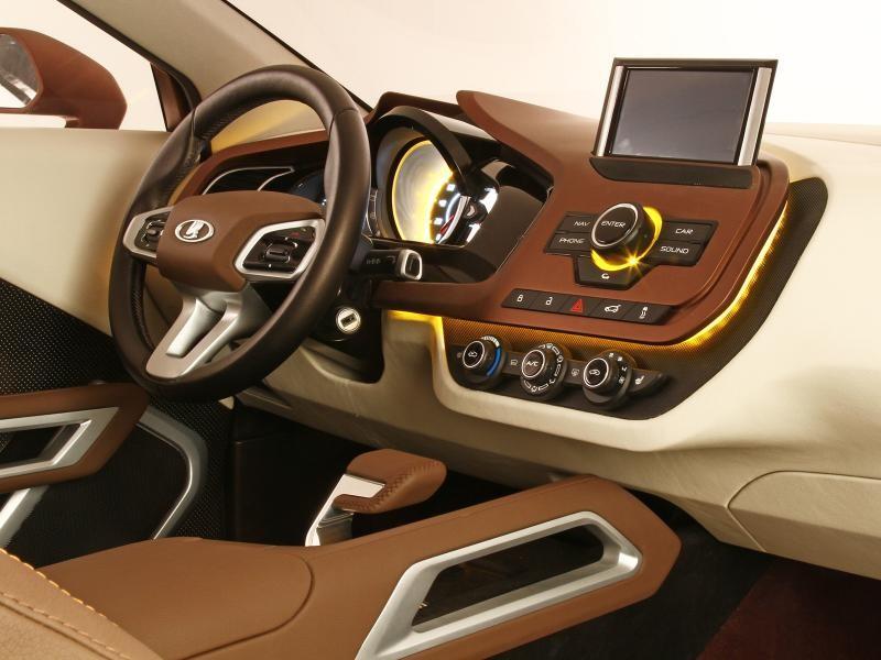Приборная панель, руль концепта Lada XRay