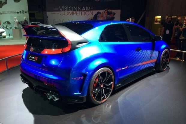 Синий Honda Civic Type R 2015