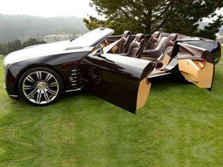 Cadillac CT6 вид сбоку, кабриолет