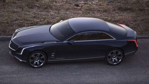 Купе Cadillac CT6 2015 вид сбоку