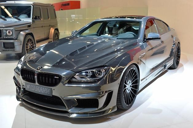 Серебристый BMW Gran Coupe M6 2015