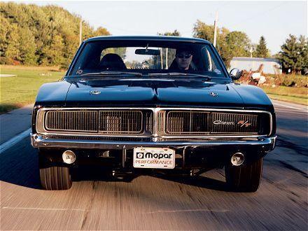 Купе Dodge Charger RT 1968 вид спереди