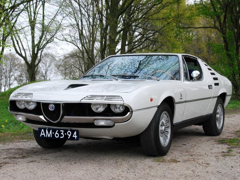 Белый купе Alfa Romeo Montreal Coupe 1972