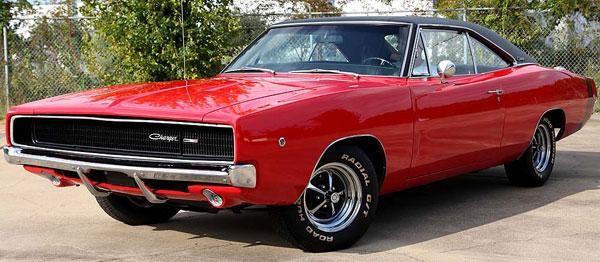Красный Dodge Charger 440 1968