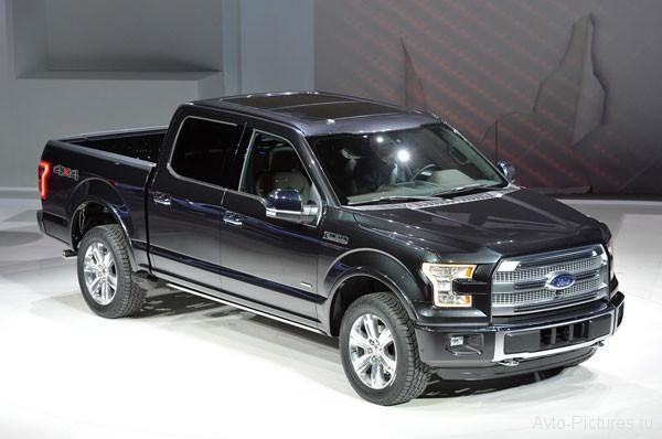 Ford F-150 2015, презентация, черный грузовой пикап