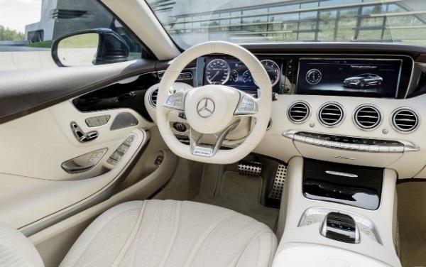 Белый салон, руль, консоль Mercedes S65 AMG Coupe
