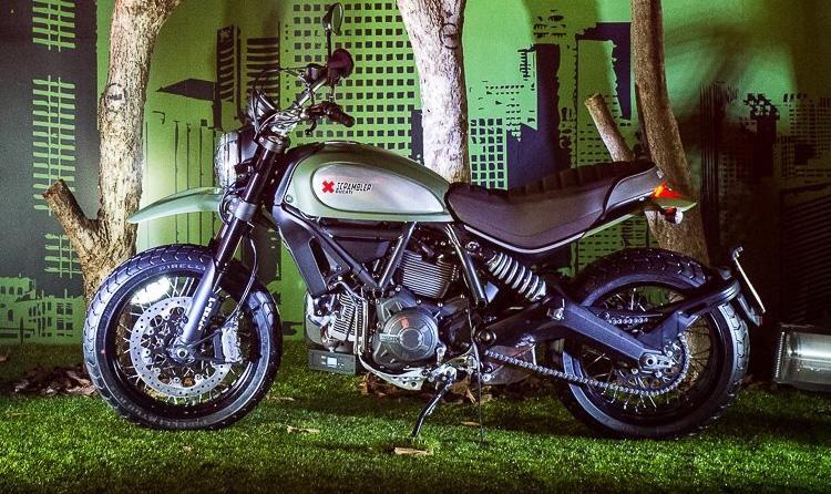 Ducati Scrambler Urban Enduro вид сбоку