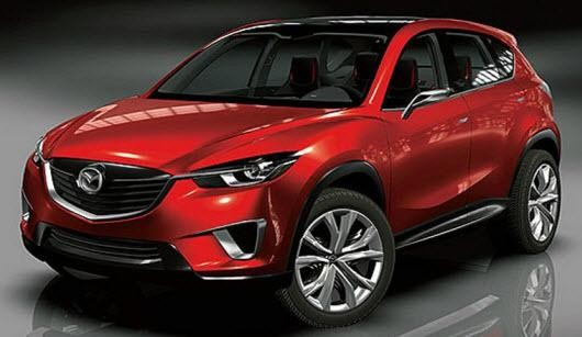 Красный кроссовер Mazda CX-3 2015