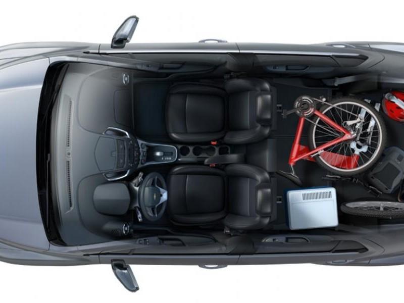 Кроссовер Chevrolet Tracker 2015 вид сверху