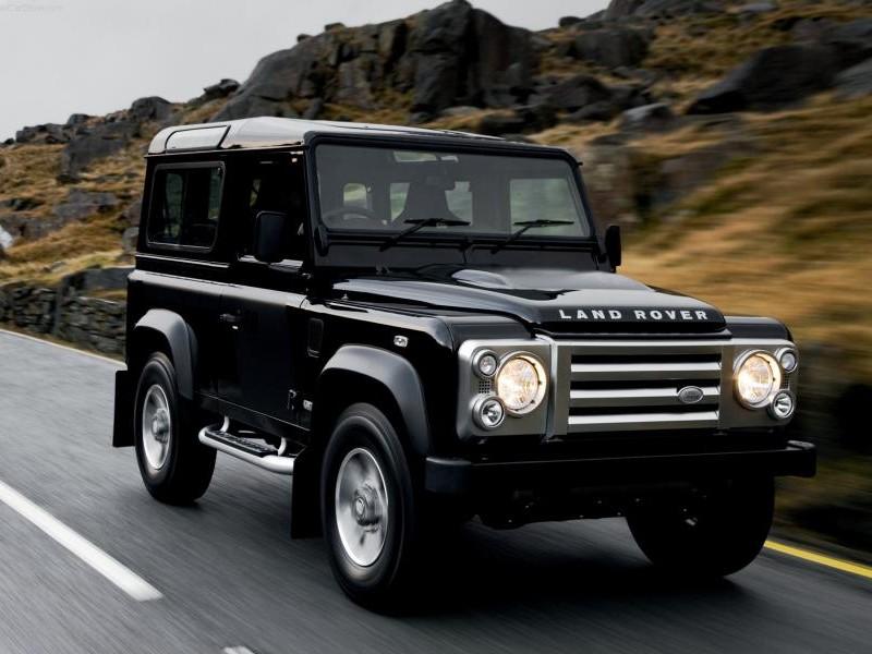 Land Rover Defender SVX, черный внедорожник
