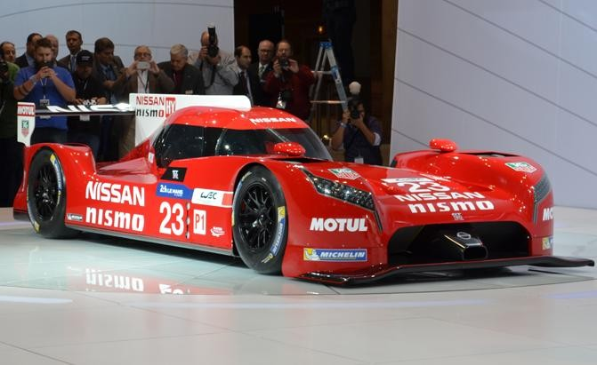 Презентация Nissan GT-R LM Nismo вид спереди