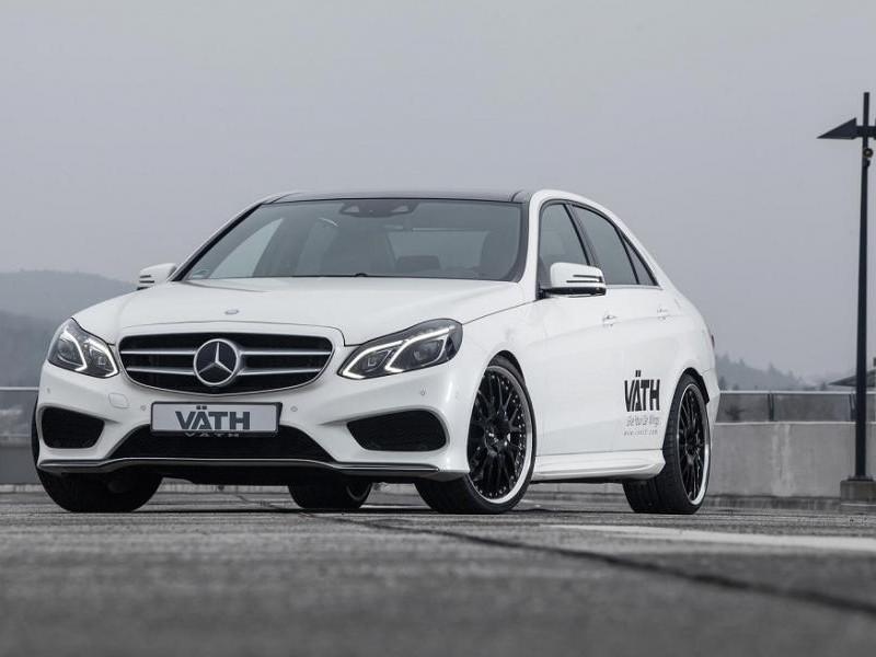 Белый Mercedes E500 Vath