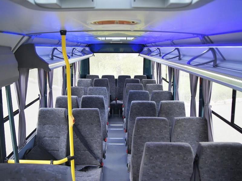 Белый автобус BAW 2245 Street Line вид сбоку