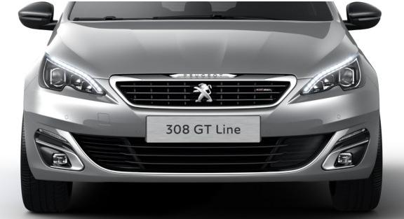Хэтчбек Peugeot 308 GT Line вид спереди