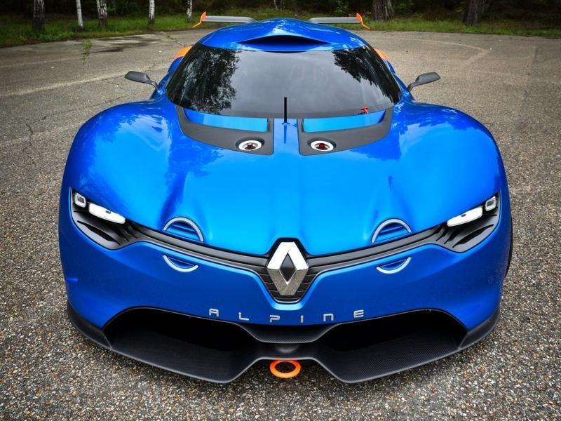 Renault Alpine 2016, вид спереди