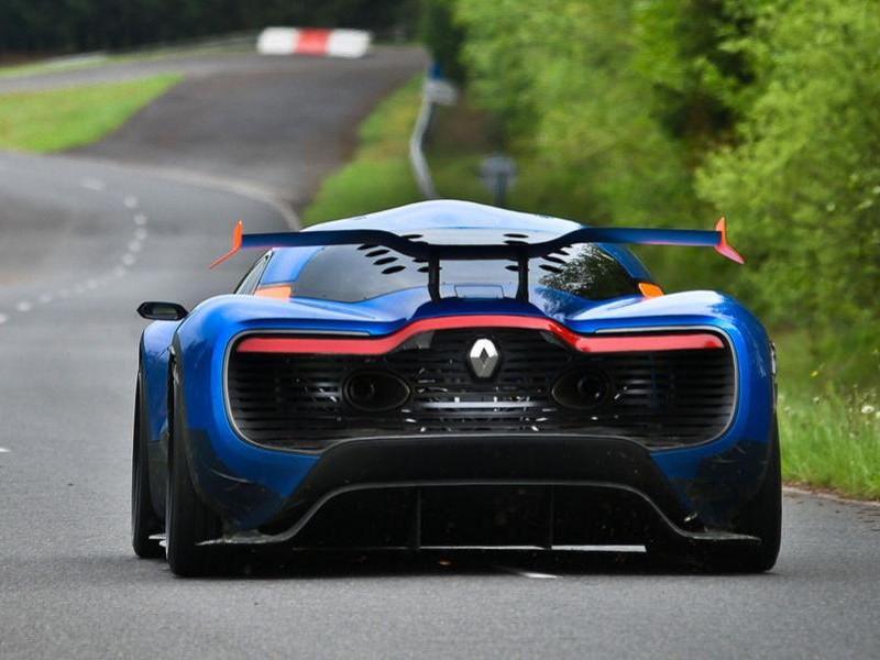 Renault Alpine 2016 вид сзади