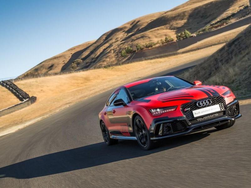 Audi RS7 Robby, красный суперкар