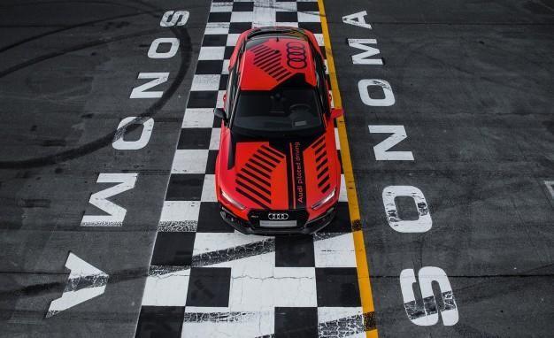 Audi RS7 Robby вид сверху