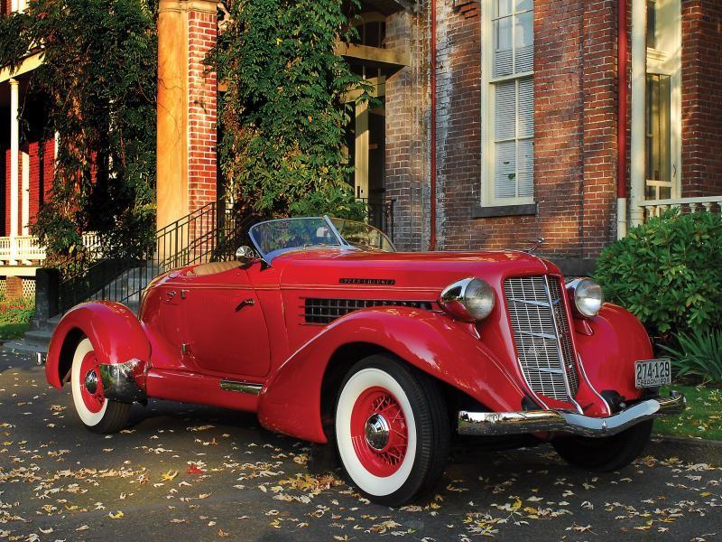 Красный Auburn 852 Speedster