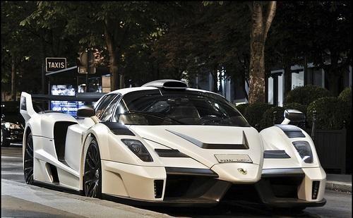 Белый суперкар Gemballa MIG-U1 (Ferrari Enzo)