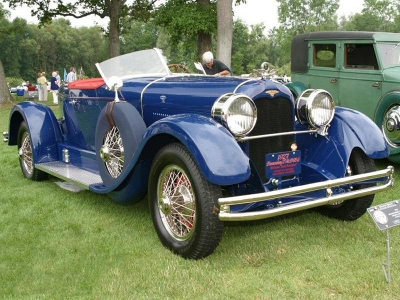 Синий Duesenberg Model X
