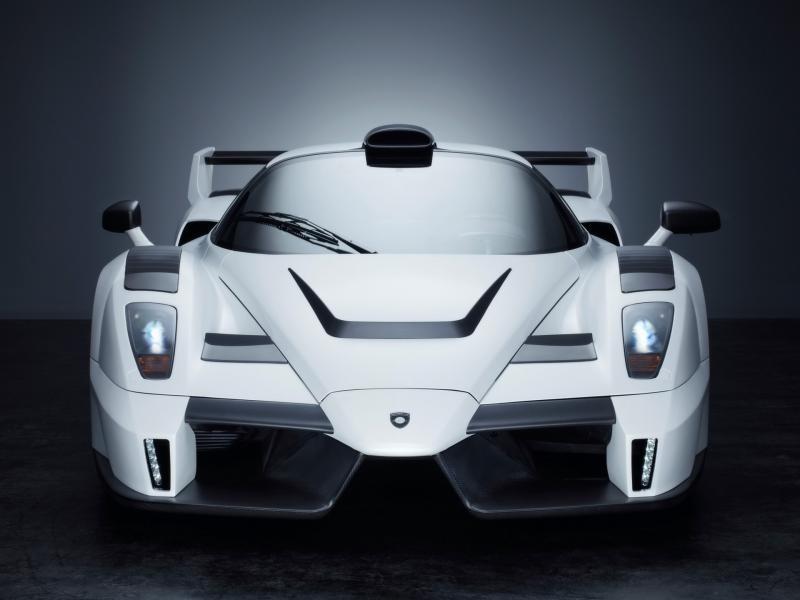 Белый Gemballa MIG-U1 (Ferrari Enzo) вид спереди