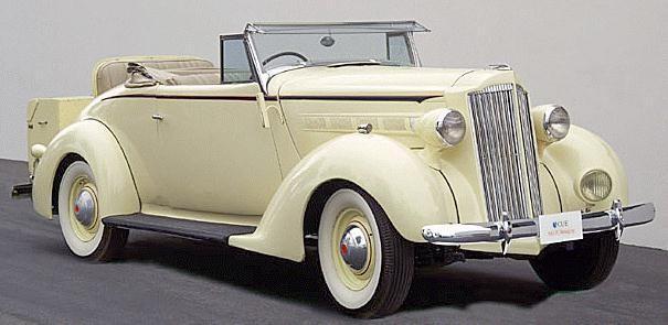 Бежевый Packard 115 Touring