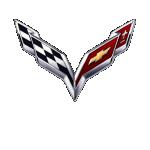 Значок-эмблема Chevrolet Corvette