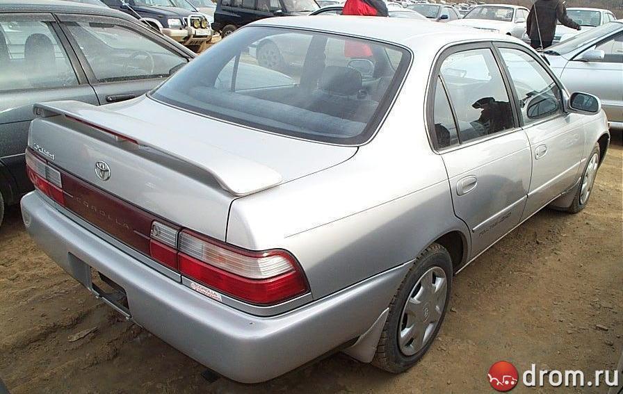 toyota corolla 1995 комплектации