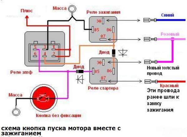 Схема подключения замка зажигания форд фокус