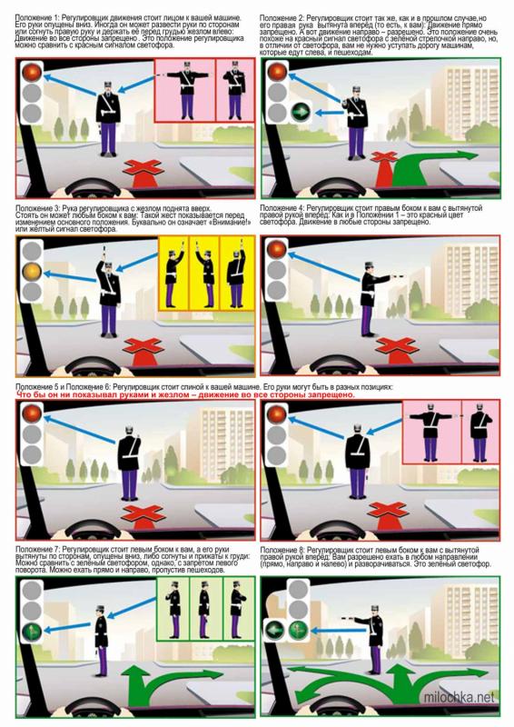 Жесты регулировщика в картинках для трамваев 12