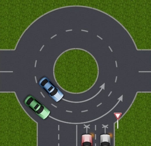 как правильно проезжать перекрестки со знаком уступи дорогу