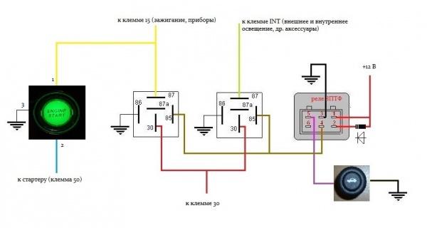 Как сделать зажигание от кнопки - Ve-sim.ru