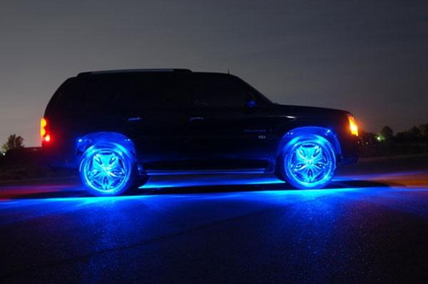 Подсветка колес автомобиля своими руками. Виды подсветки