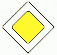 Признаки главной дороги от второстепенной