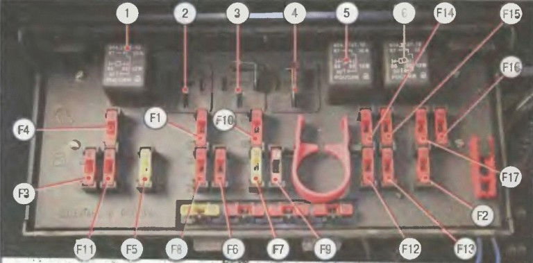 Схема блока предохранителей шевроле круз фото 987