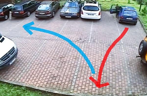 выезд с парковки задним ходом