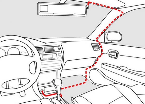 Схема подключения видеорегистратора в автомобиль