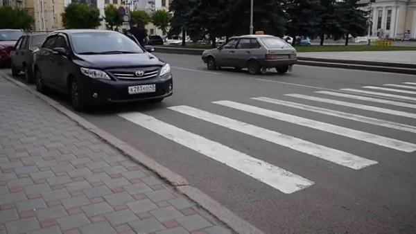Расстояние до пешеходного перехода при парковке