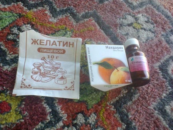 желатин мандарин глицерин