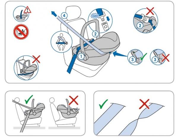 Схема крепление для детского сиденья