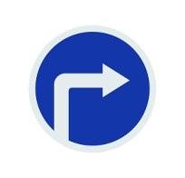 Проезд под знак только направо