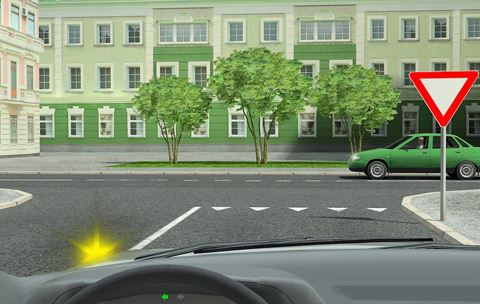 как правильно останавливаться перед знаком уступи дорогу