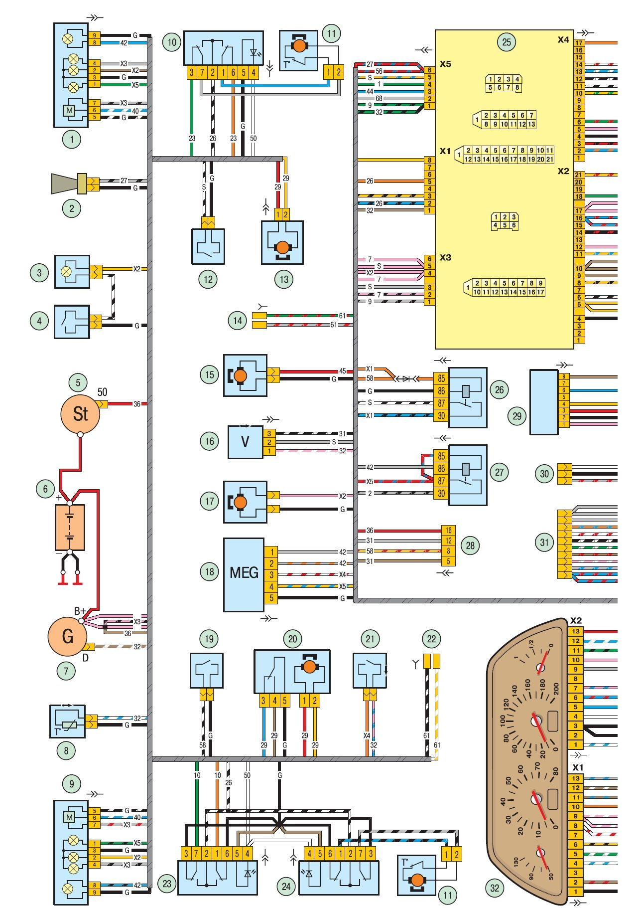Схема электропитания нива-шевроле