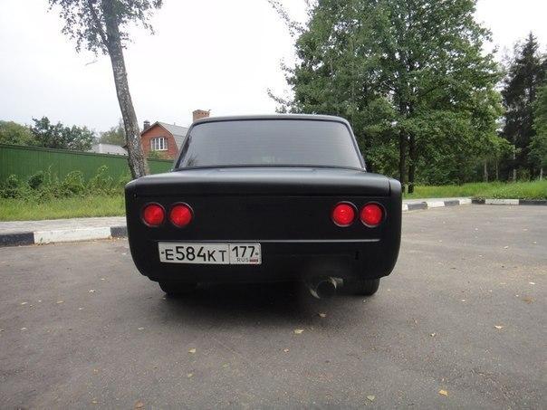 Задний бампер черного матового ВАЗ 2101