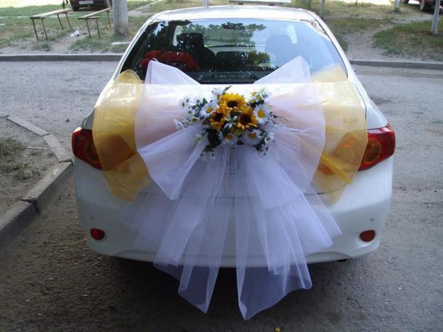 Украсить машины к свадьбе своими руками