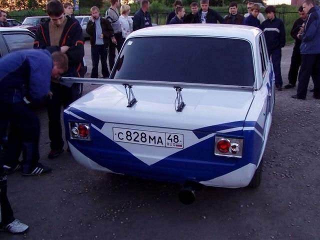 Задний бампер бело-синего ВАЗ 2101