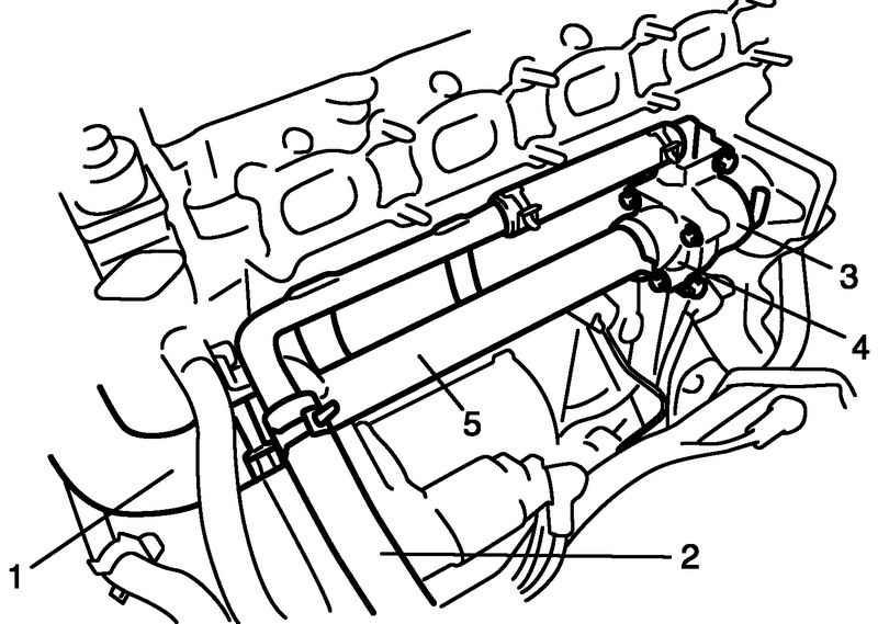 Корпус термостата и подводящие трубки