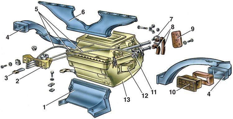 Как сделать печку в ваз 2105