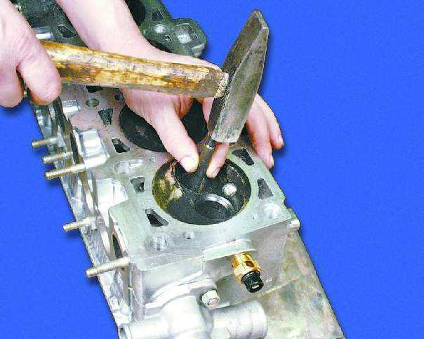 Замена направляющих втулок клапанов калина 16 8 клапанов своими руками 45
